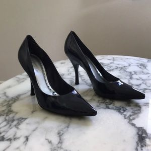 BCBG Navy Patent Leather Heels